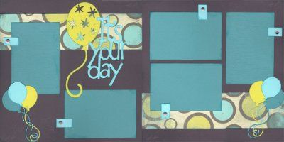 It's Your Day Scrapbook Page Kit