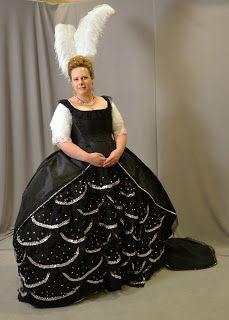Black Silver Robe De Cour Night Robe Historical Fashion Fashion