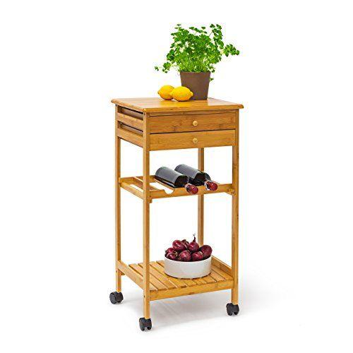 Relaxdays 10019163 Küchenrollwagen James M HxBxT 80x40x37 cm - küchenwagen mit schubladen
