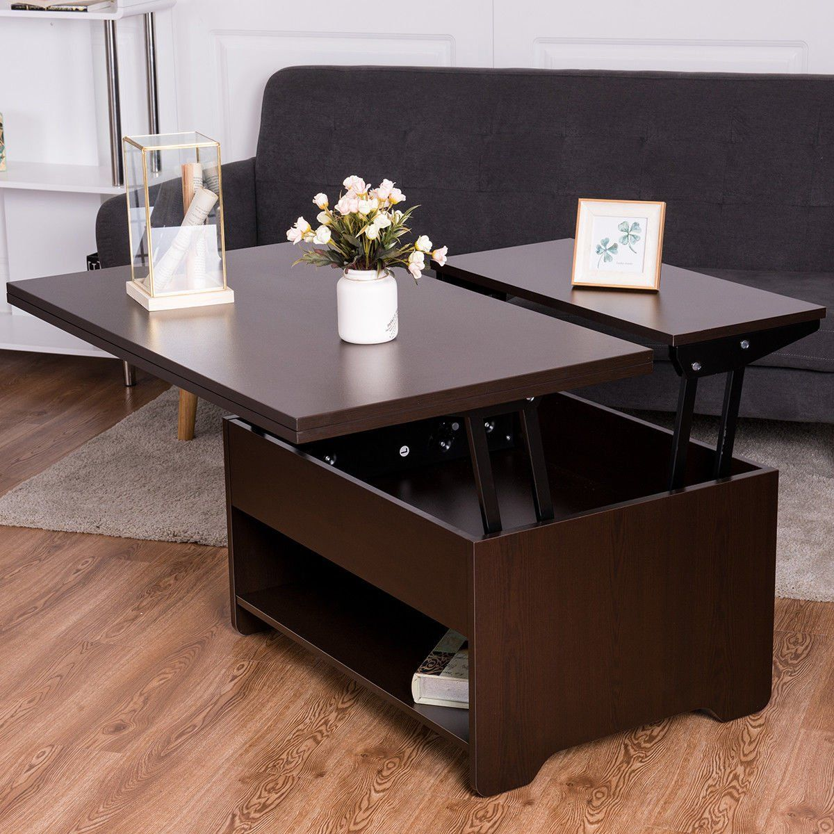 modern lift top coffee table amazon