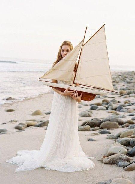 Dress: wedding dress, tulle dress, wedding, beach wedding, romantic, beach wedding dress - Wheretoget