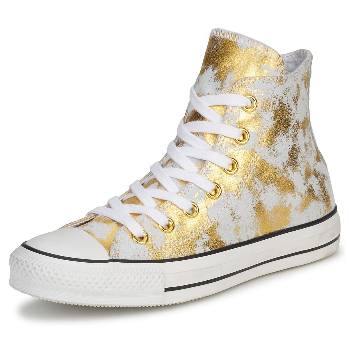 e1161c075377 Hi top trainers Converse All Star - Gold and White leather
