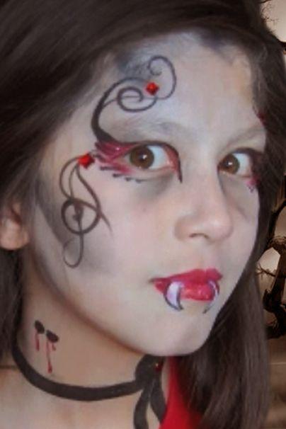 Vampire Face Paint Design Video Tutorial Face Paint Shop Online Vampire Face Paint Face Painting Designs Face Painting Halloween