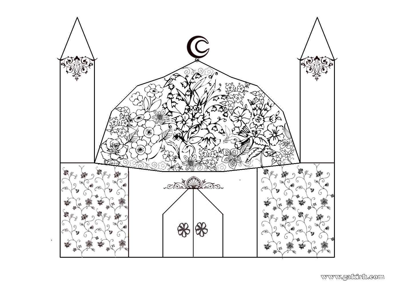 Islamic Coloring Pages . Muslim Kids Coloring Page : a bunch of ...