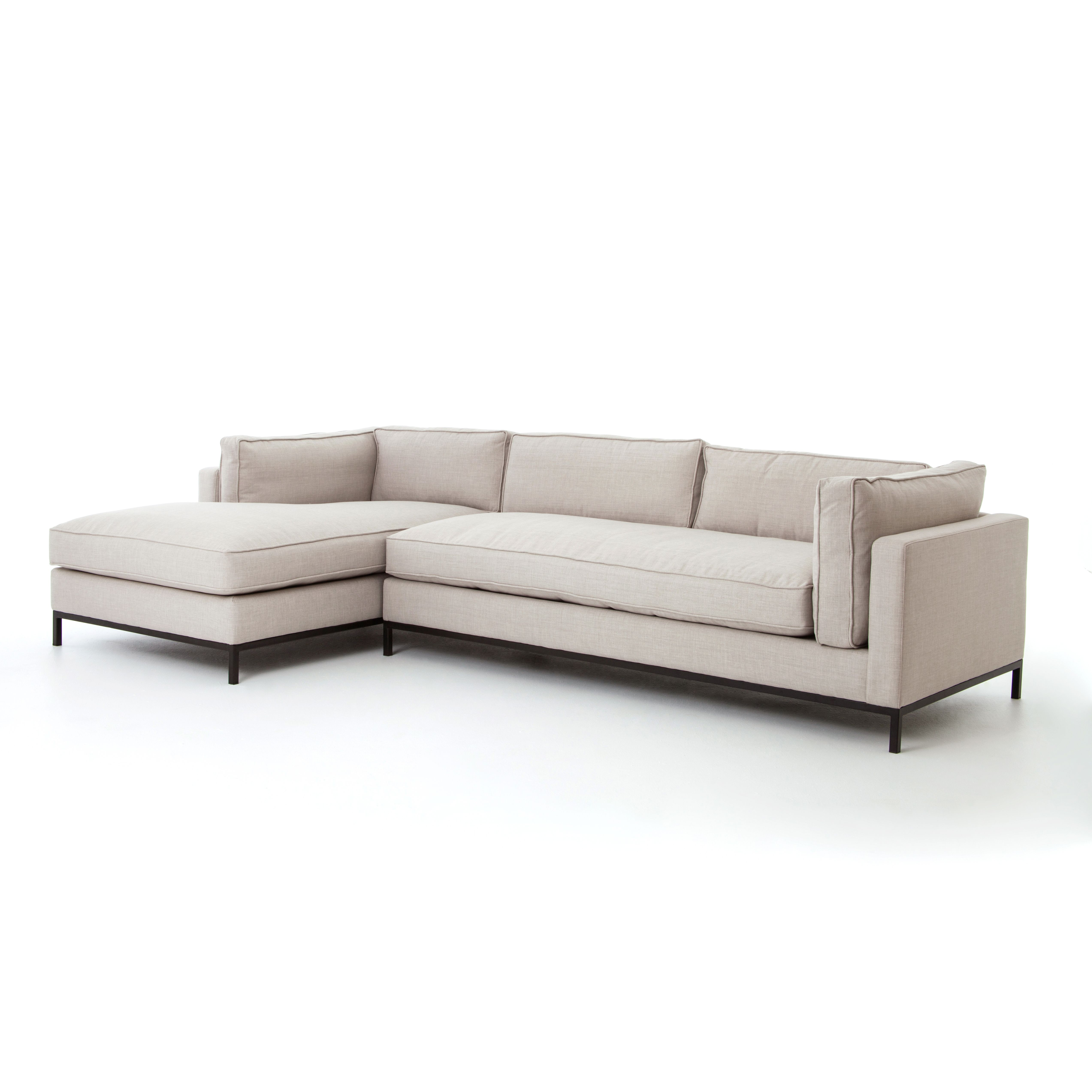 2 PC SECTIONAL LEFT ARM CHAISE Flexible Style, Luxurious Comfort, And  Family Friendly Upholstery. Clean, Simple Lines And A Black Iron Base Keep  Everything ... Amazing Ideas
