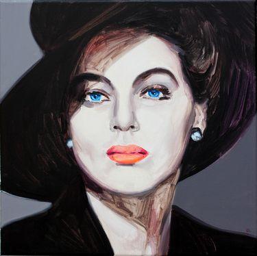 "Saatchi Online Artist Andrzej Roszczak; Painting, ""Maybe Ava Gardner?"" #art"