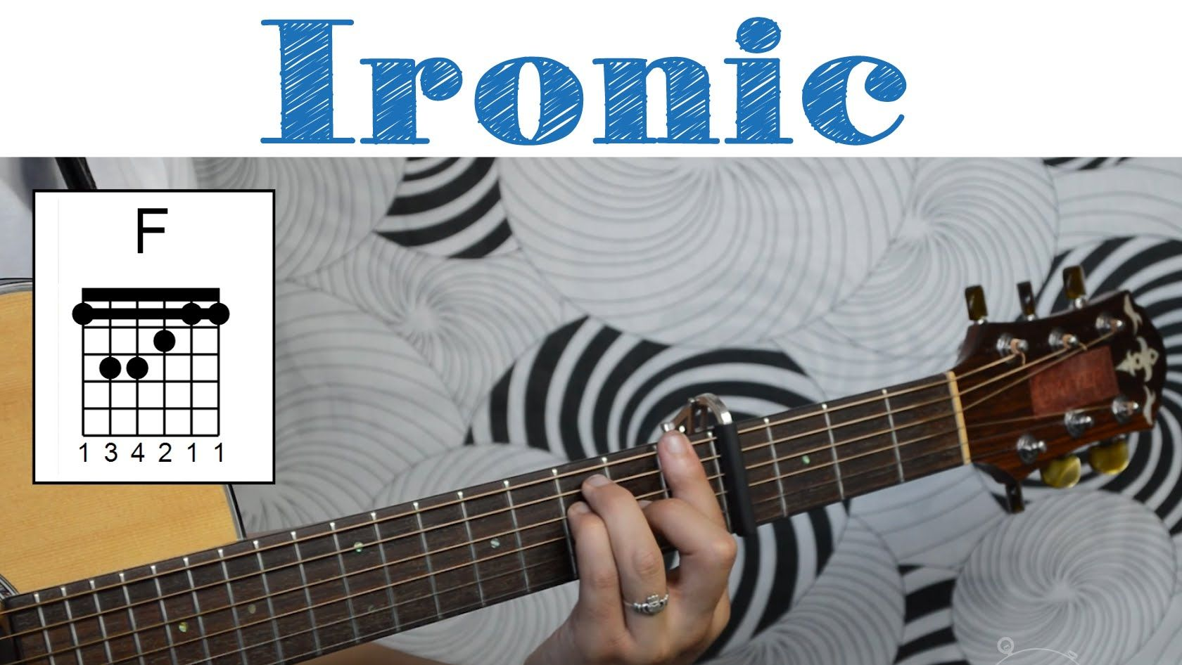 Ironic Alanis Morissette Easy Guitar Tutorial Simple Chords And