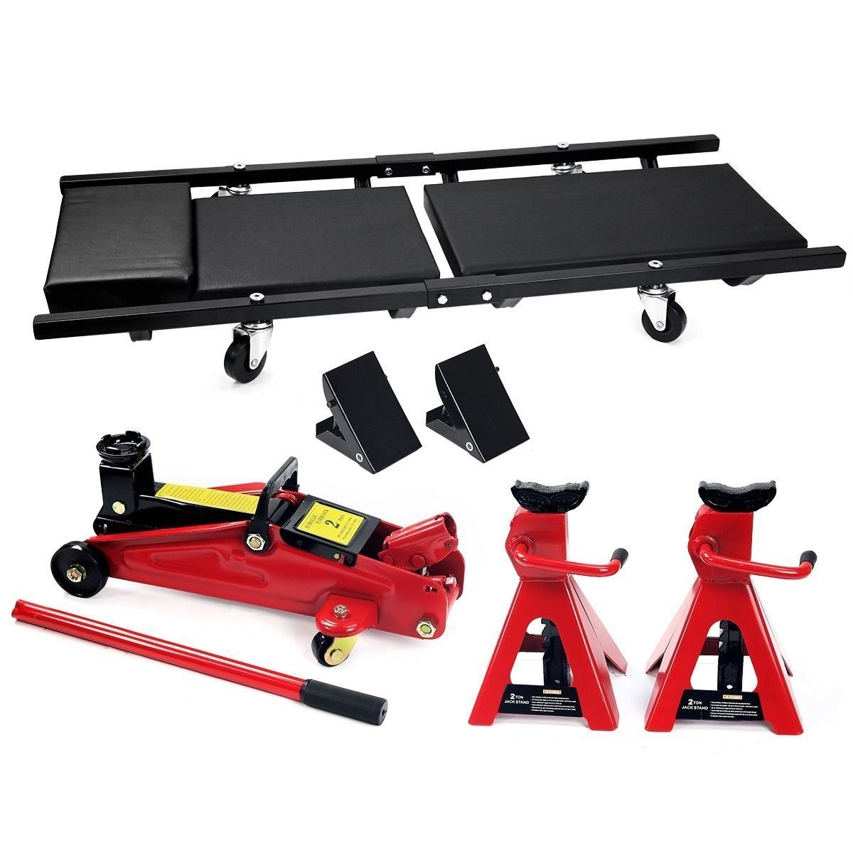 Jack Stand Lifter Heavy Duty 2 Ton Pair 2