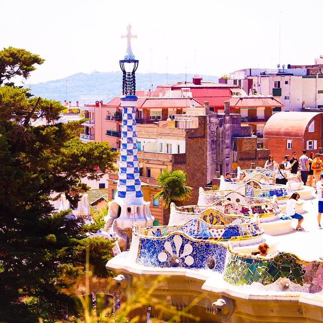 Beautiful sunshine in Park Guell today!  I was so happy to be able to view Gaudi's art for the first time in person, after researching his art over 14 years ago at school. It was so beautiful