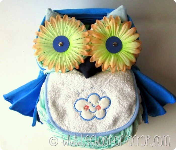Tutorial To Make A Diaper Cake Owl