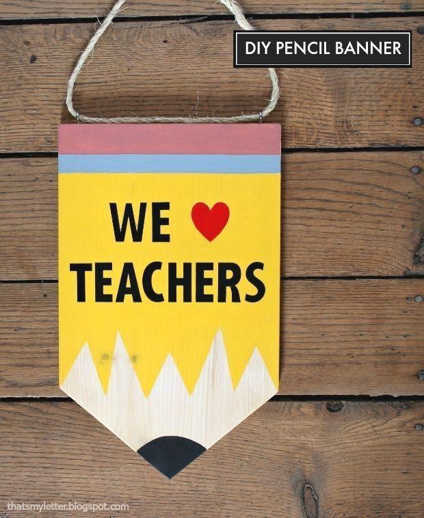 diy pencil banner