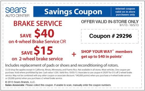 Verified Sears Auto Center Coupons On Tires Oil Change 2020