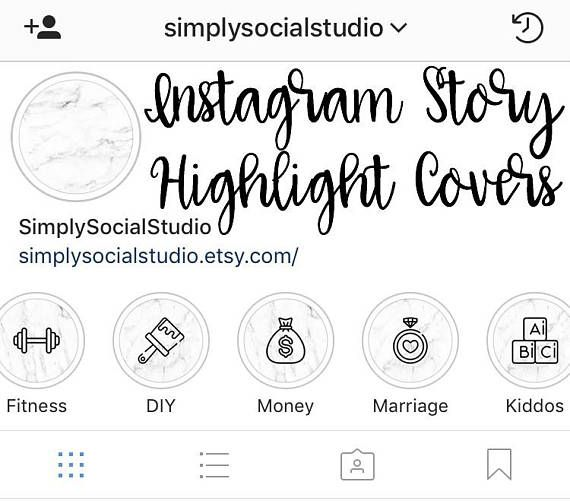 Set of 15 Instagram Story Highlight Cover Icon Template ...