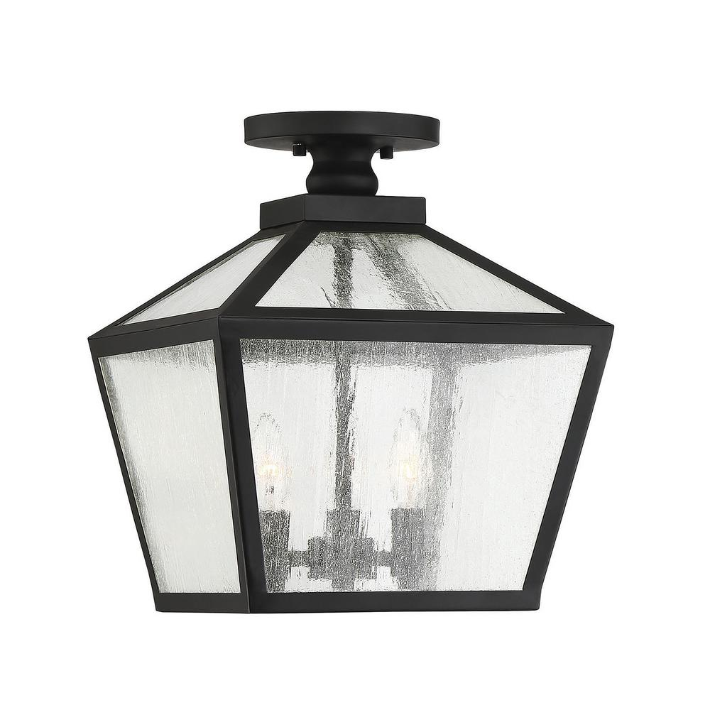Filament Design 3 Light Small Black Outdoor Flush Mount Light With Clear Seeded Glass Cli Sh283116 Outdoor Ceiling Lights Ceiling Lights Outdoor Flush Mounts