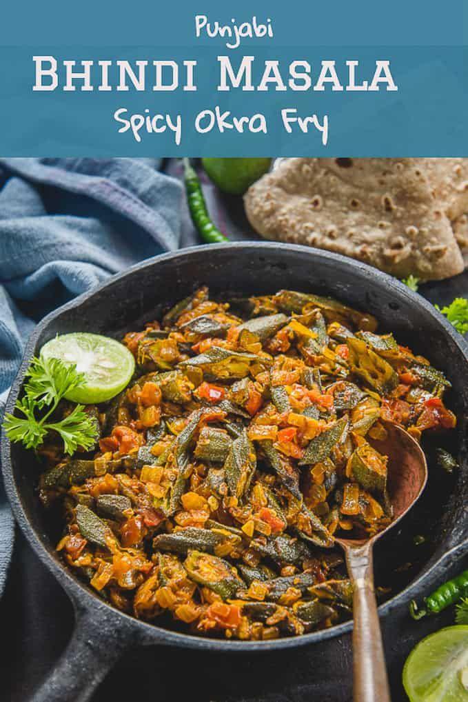 Bhindi masala fry recipe indian food recipes pinterest bhindi masala fry recipe indian food recipes pinterest indian breads masala recipe and okra forumfinder Images