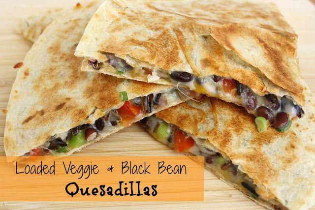 Loaded Veggie Black Bean Quesadilla The Garden Grazer Recipe Recipes Mexican Food Recipes Vegetarian Dishes