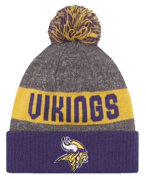 New Era NFL Minnesota Vikings Official Sideline Sport Knit Cap Beanie  11289116 2d137a419