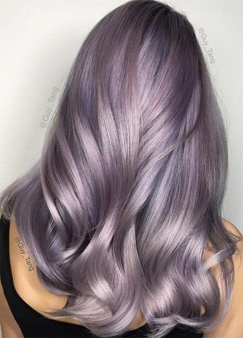 50 Lovely Purple Lavender Hair Colors In Balayage And Ombre Metallic Hair Lilac Hair Color Lavender Hair Colors