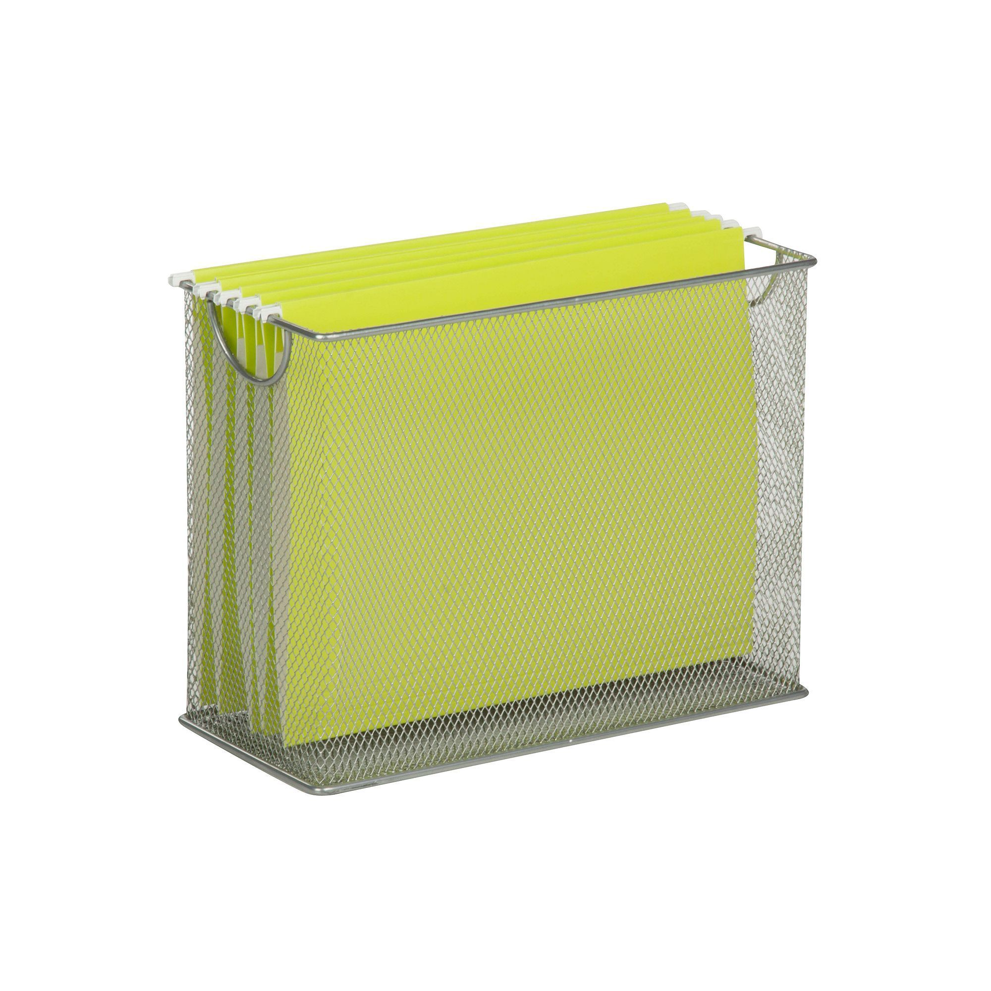 Honey-Can-Do Table Top Hanging File Organizer, Silver | Hanging ...