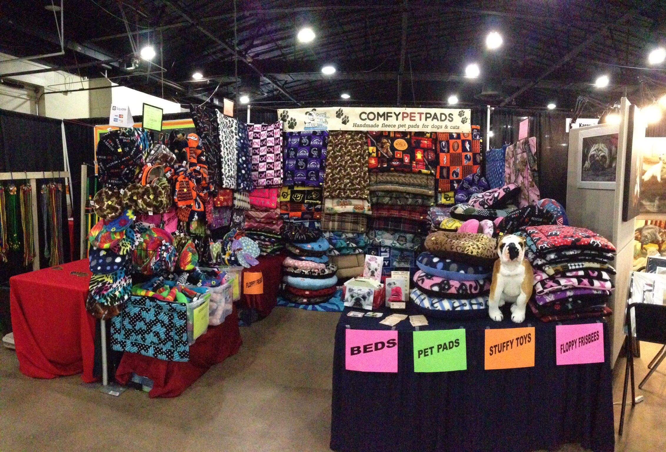 Booth set up for the Denver Pet Expo, August 16, 2014 | Craft Show ...