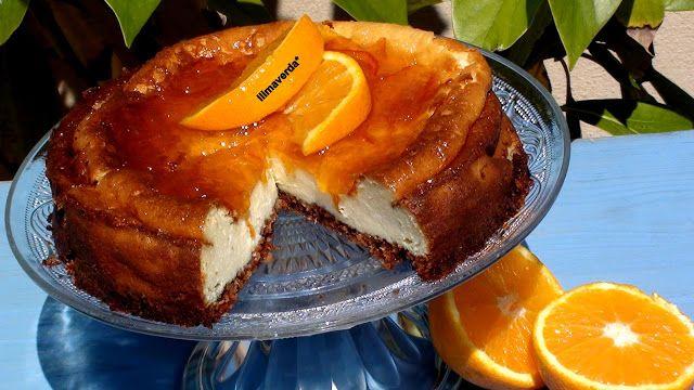 llimaverda: Tarta de queso y naranja al horno
