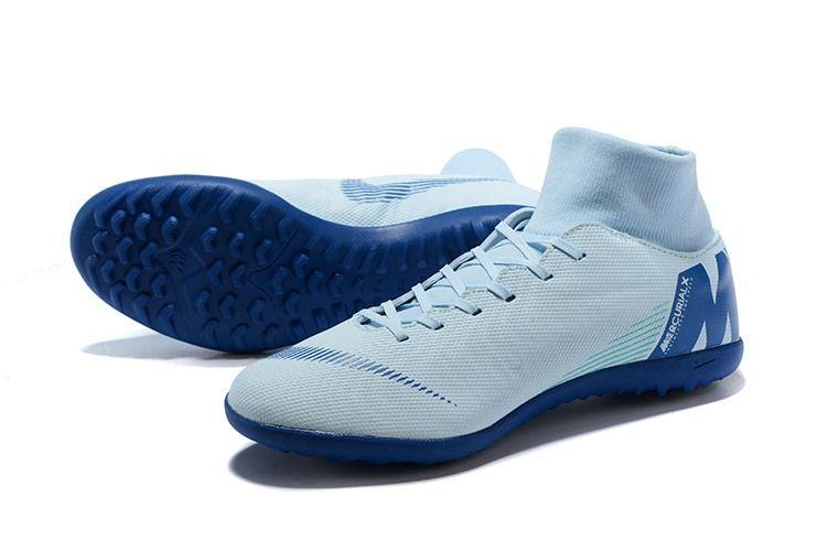Nike Mercurialx Superfly 360 Elite Tf Turf Soccer Shoe White Blue Soccer Shoe Best Soccer Cleats Superfly