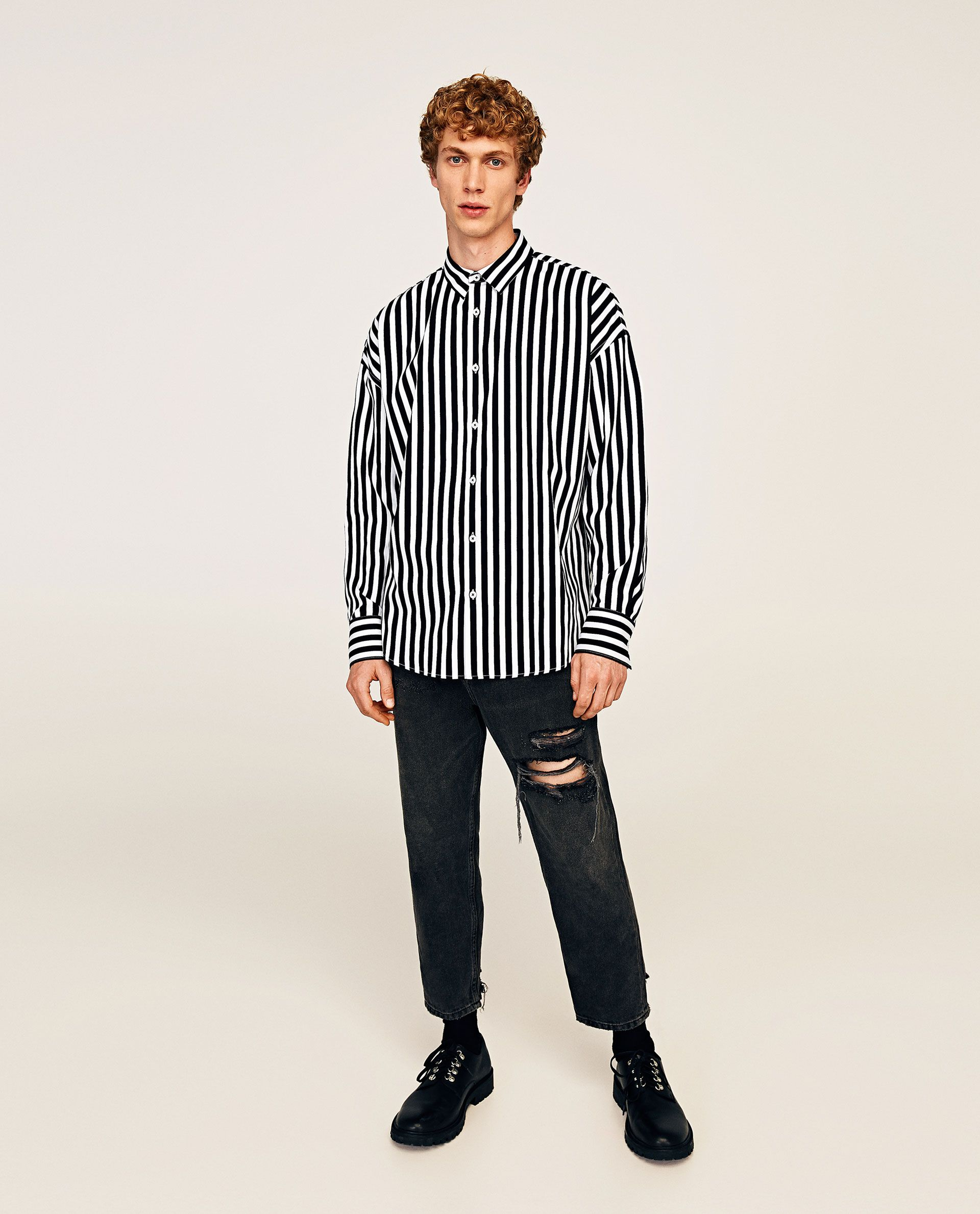 95822878b25 ZARA - MAN - OVERSIZED STRIPED SHIRT