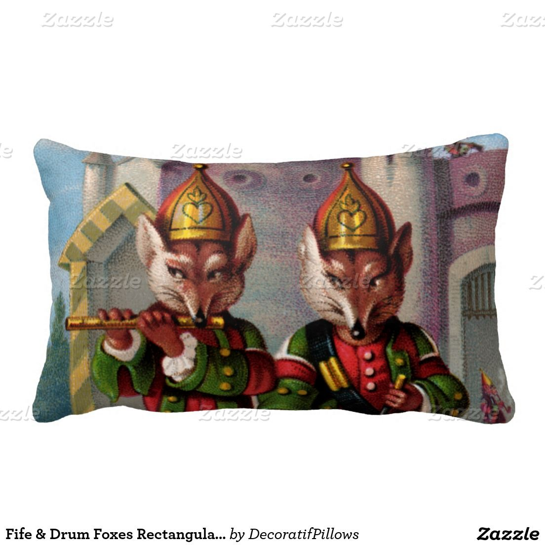 / fife and drum foxes / pillow /