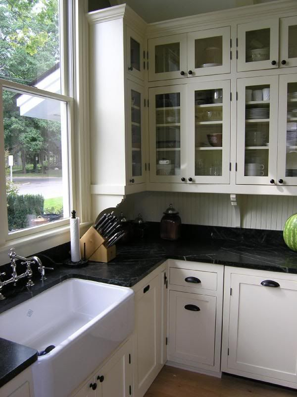 White Cabinets Black Countertop Drawer Pulls This Is Our Look