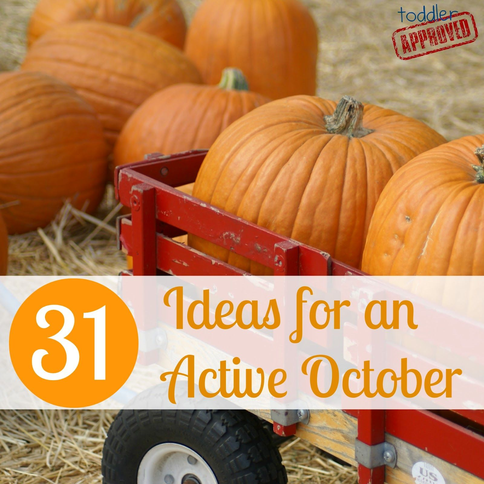 Toddler Approved!: 31 Ideas for an Active October! What are some of your favorite ACTIVE October ideas that we might have missed?