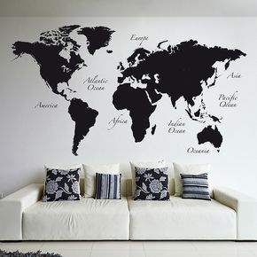 Exceptional World Map Wall Decal