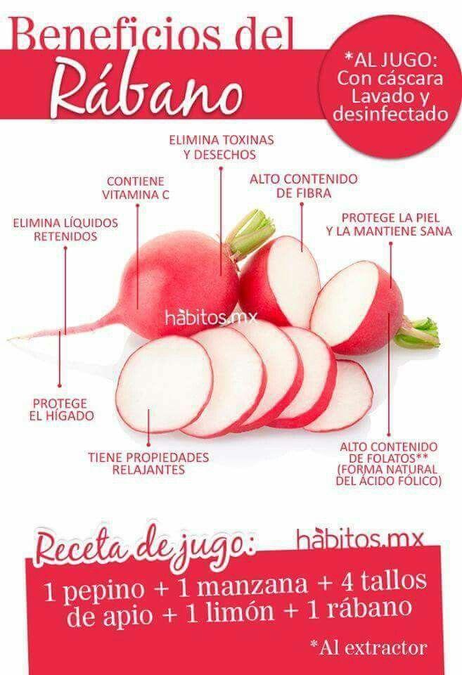 Rabanitos Beneficios Del Rabano Frutas Y Verduras Beneficios Recetas De Jugos