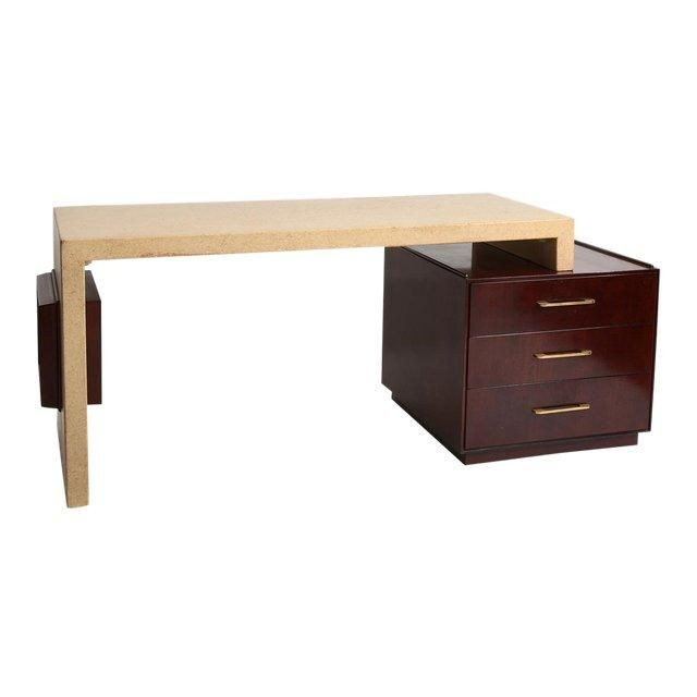 Paul Frankl Cork Desk For Johnson Furniture Circa 1950s