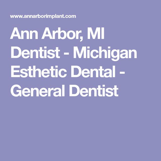 Ann Arbor, MI Dentist - Michigan Esthetic Dental - General Dentist | Organic gardening, Cookies