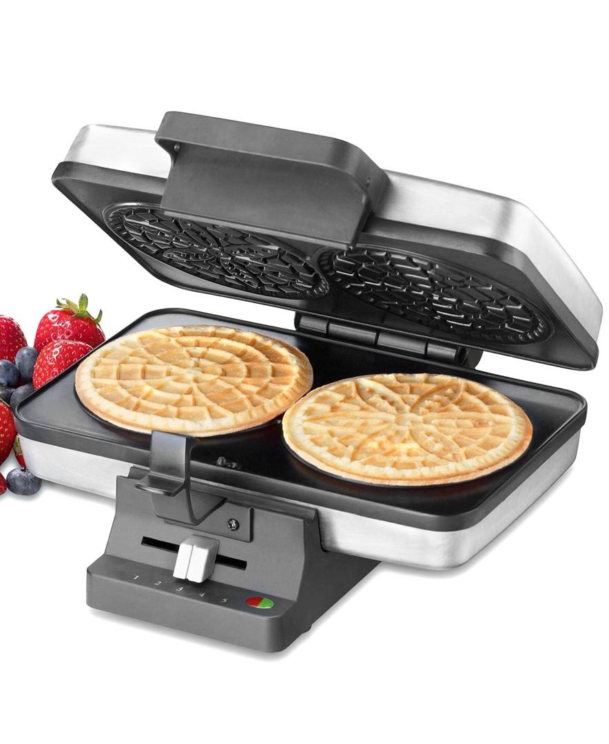 Pizelle Press By Cuisinart Pizelles Can Be Flavored With Vanilla Almond And Anise Yum Pizzelle Pizzelle Maker Pizelle