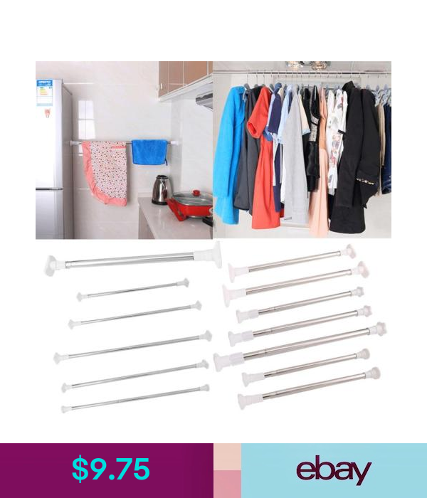 Accessories Extendable Shower Curtain Rod Pole Telescopic Spring