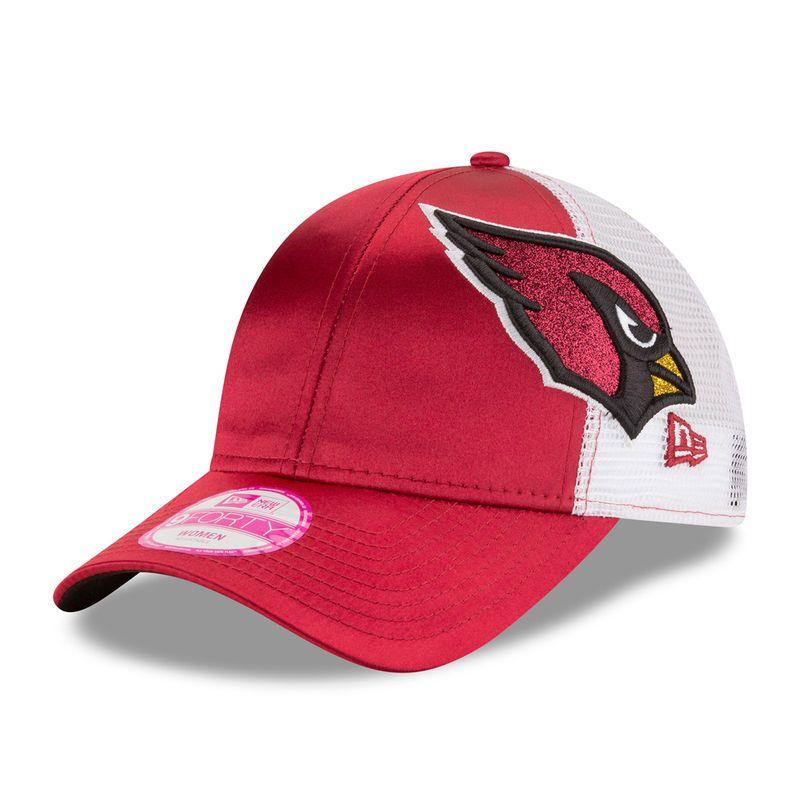 8f9ce5a4 Arizona Cardinals New Era Women's Team Glitzer 9FORTY Adjustable Hat ...