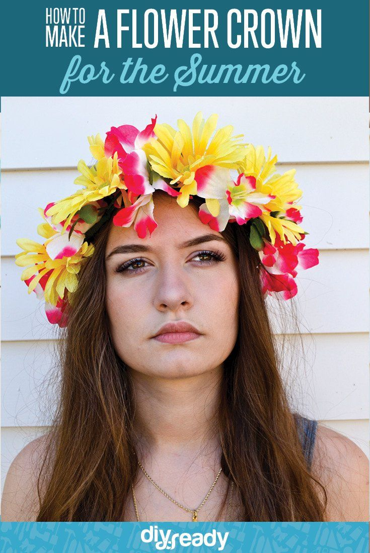 How to make a flower crown diy fun ideas pinterest crown how to make a flower crown flower headbands izmirmasajfo