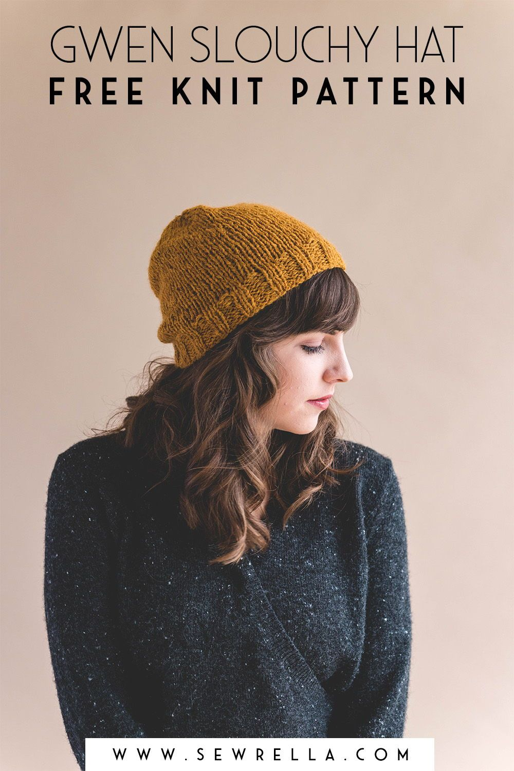 Knit Simple Slouch Gwen Hat | Easy knitting, Knitting ...