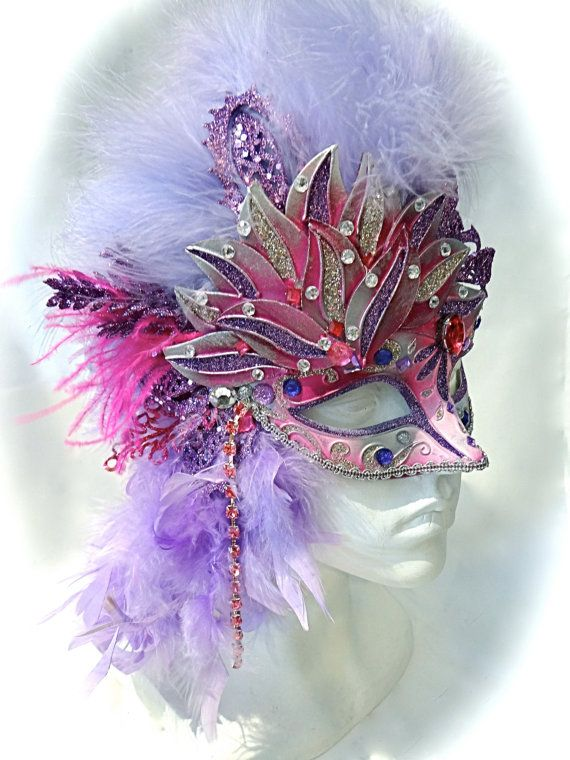 Lavender & Pink Masquerade Mask Festival Masks by Marcellefinery, $54.00 Feathers and fluff! My Big Day Events, Colorado Event Planning http://www.mybigdaycompany.com/