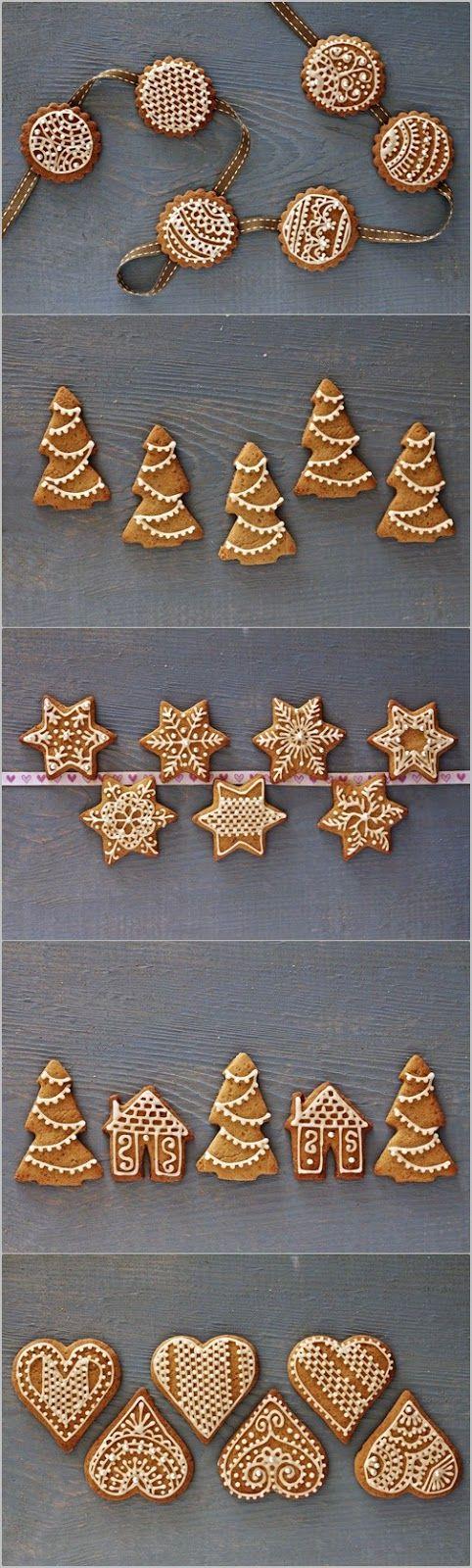 festive decorated gingerbread cookies rezept biscotti di natale weihnachtspl tzchen. Black Bedroom Furniture Sets. Home Design Ideas