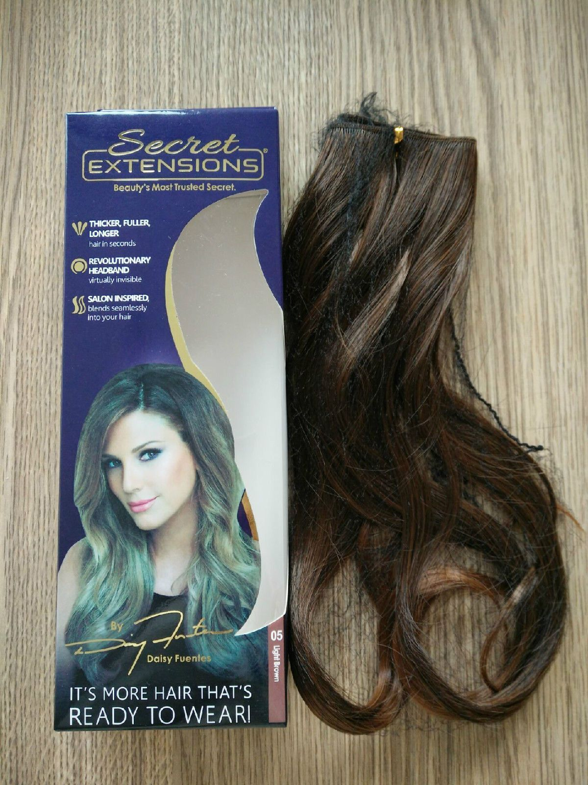 Secret Extensions By Daisy Fuentesmedium Brown Hair As Seen On Tv