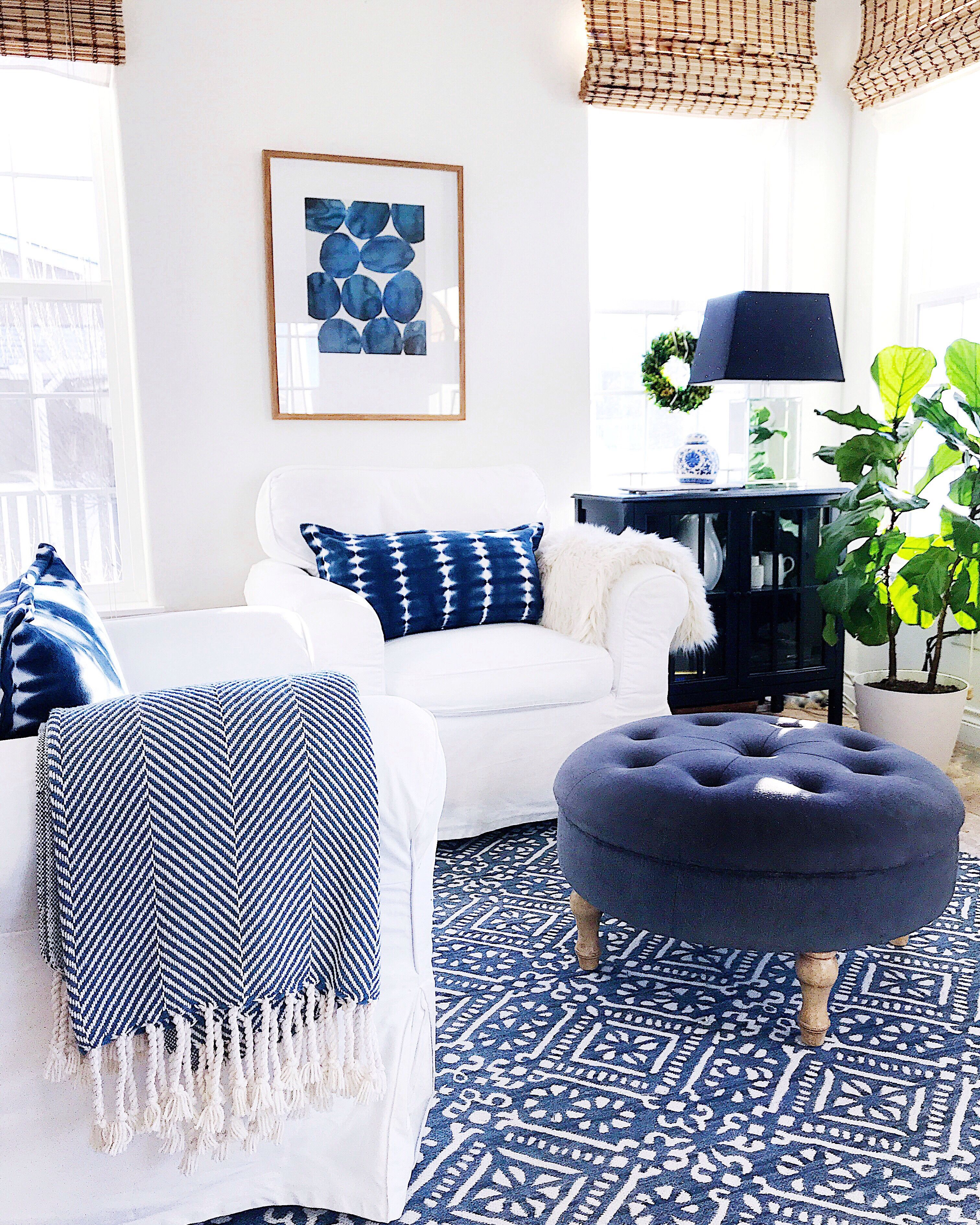 How To Create More Joy At Home Jane At Home Blue And White Living Room Blue Living Room Living Room Designs Living room ideas blue