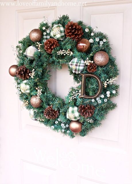 Traditional evergreen wreath ideas mixed with some unconventional designs.