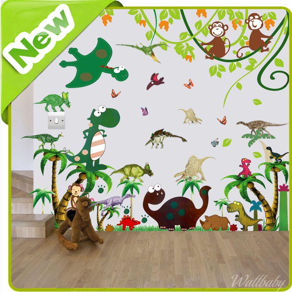 Babysaurus 42 BiG Wall Stickers Baby Dinosaur Nursery Room Decor Trees  Decals | Dinosaur Nursery, Baby Dinosaurs And Nursery Room Decor