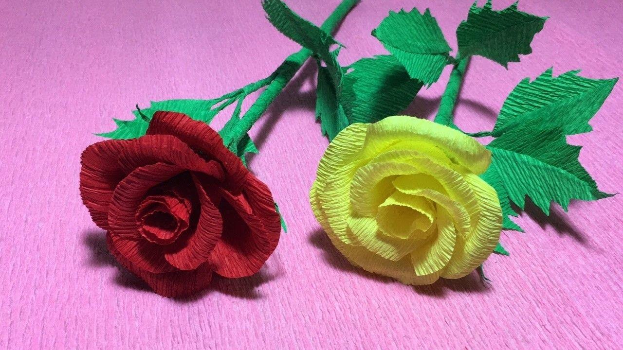 How To Make Rose Crepe Paper Wedding Flowersdiy Roses Flower