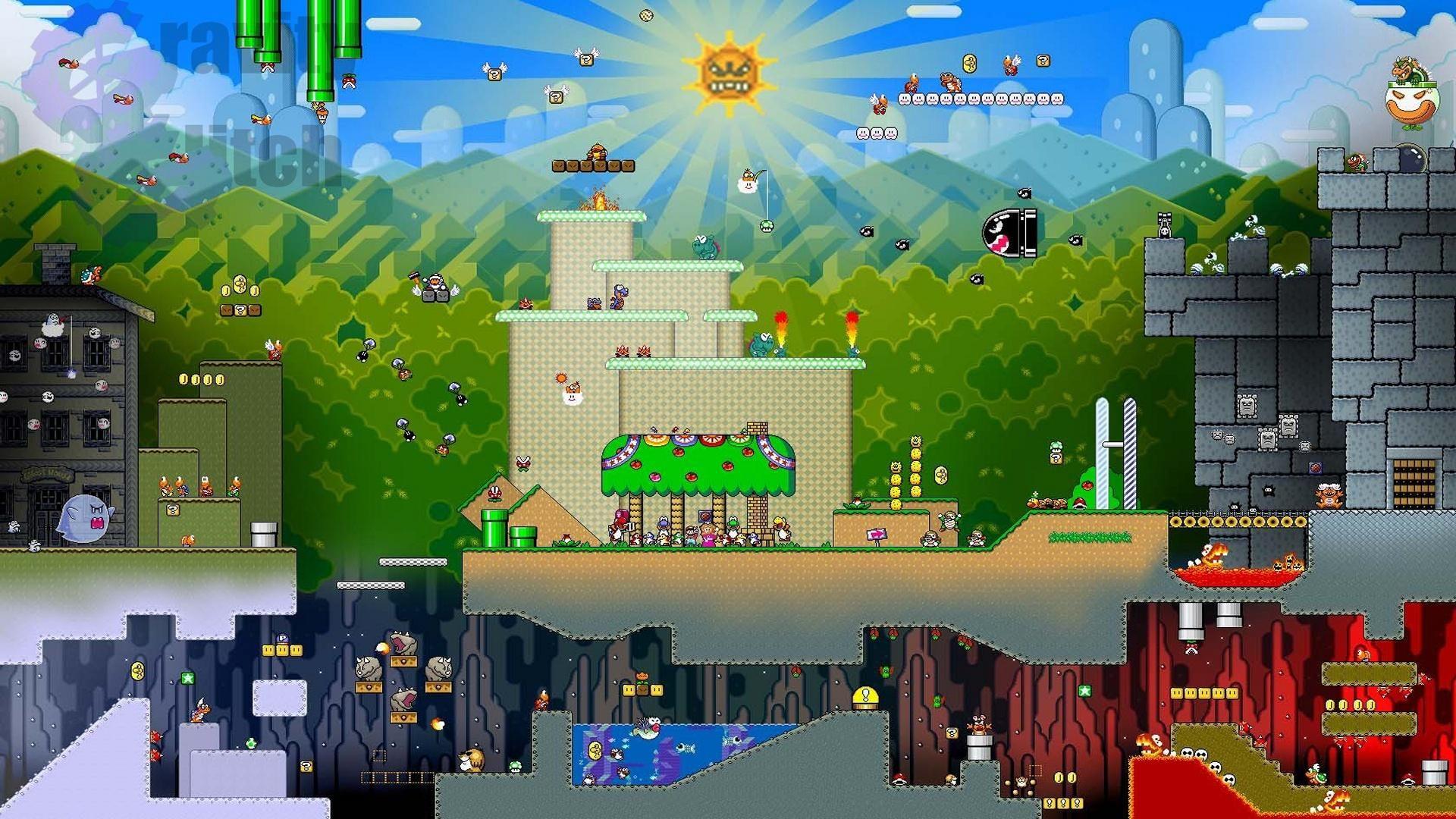 L'enorme monde de Super Mario Super mario, Super mario bros