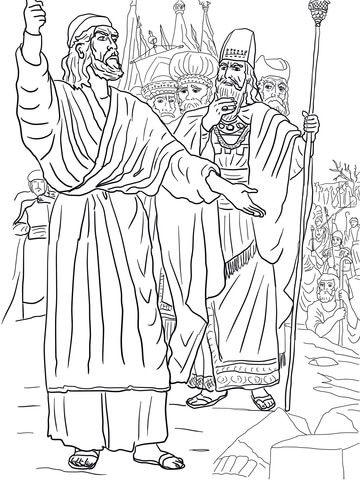 King Ahab And Elijah Coloring Page