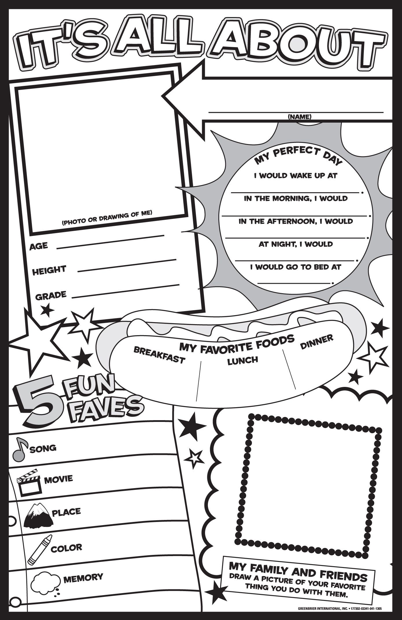 worksheet About Me Worksheet all about me worksheets printables instant personal poster sets 6 best images of free printable posters template worksheet and w