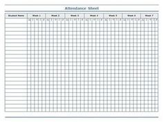 Attendance Sheet For Students Custom Classroom Charts Printable  Guidelines For Attendance Sheet  Bitch .